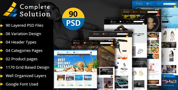Complete Solution - Multipurpose E-Commerce PSD Template - Retail PSD Templates