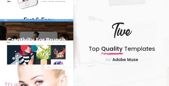 Tive | Responsive Multi-Purpose Adobe Muse Template - Creative Muse Templates
