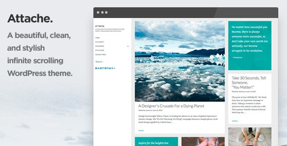 Attache Infinite Scrolling WordPress Theme - Blog / Magazine WordPress