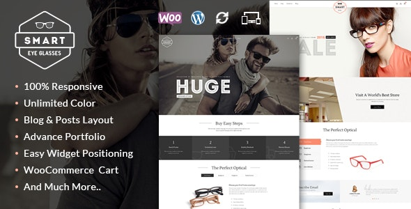 Smart Eye Glasses WooCommerce Theme - WooCommerce eCommerce