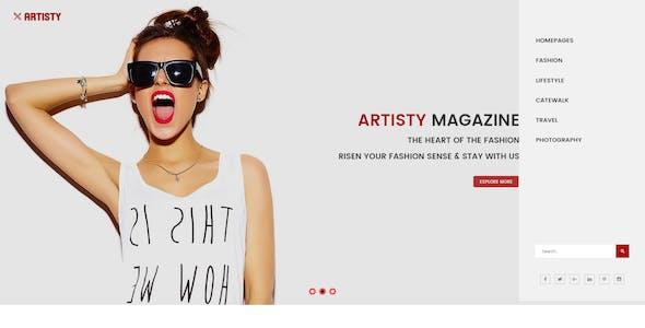 Artisty - Magazine PSD Template