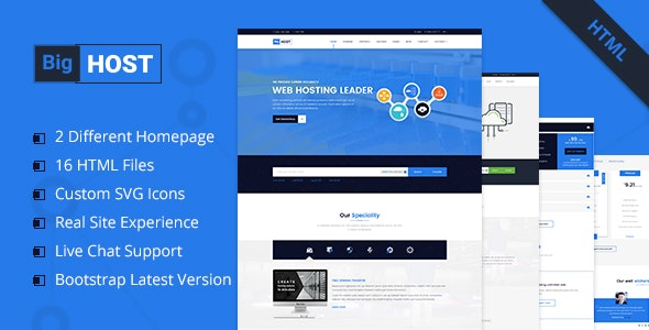 BigHost - Web Hosting Domain Technology HTML Template - Hosting Technology