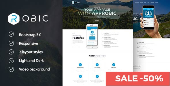 Robic - WordPress Landing Page Theme - Software Technology