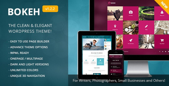 Bokeh | WordPress Theme for Blog & Business - Business Corporate