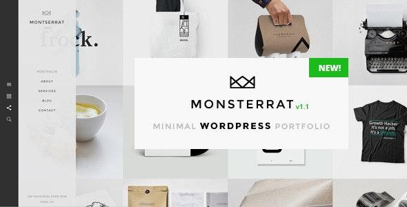 Monsterrat - Minimal WordPress Portfolio Theme - Portfolio Creative