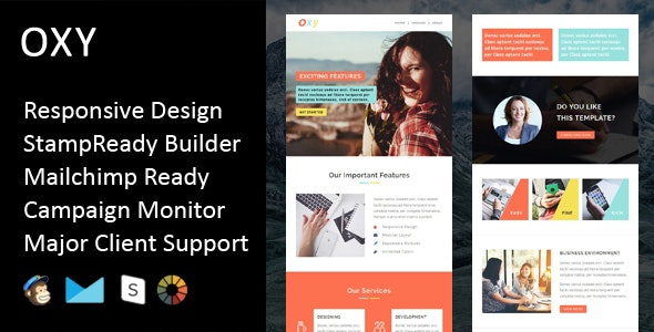 Oxy - Multipurpose Responsive Email Template + Stampready Builder - Email Templates Marketing