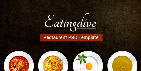 Eatingdive - Restaurant PSD Template - Restaurants & Cafes Entertainment