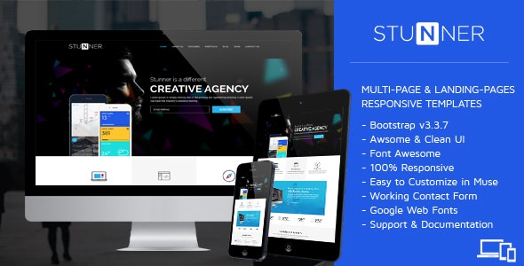 STUNNER - Creative Multipurpose HTML Templates - Creative Site Templates