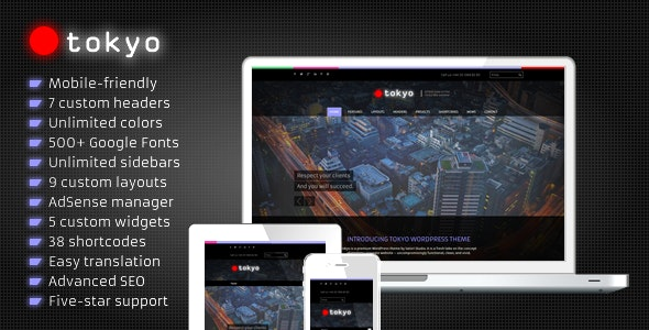 Tokyo - Business WordPress Theme - Corporate WordPress