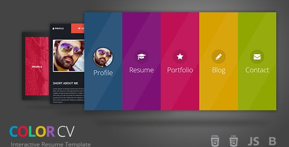 ColorCV - Interactive Resume Template