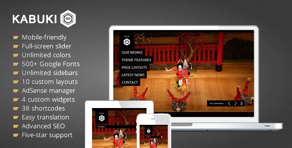 Kabuki - Luxury Portfolio/Agency WordPress Theme - Creative WordPress
