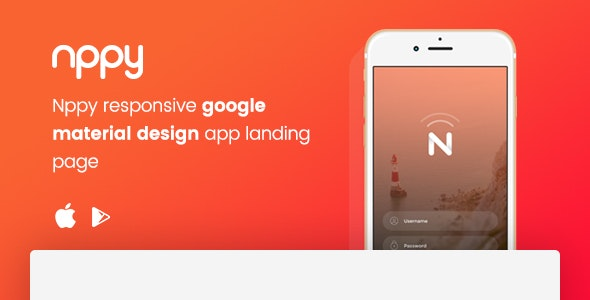 Nppy - Material Design App Landing Page - Apps Technology