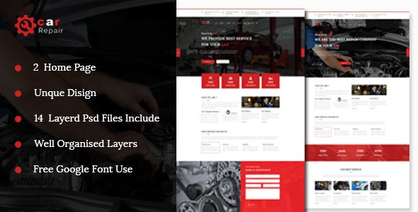 Car Repair And Maintenance Template - PSD Templates