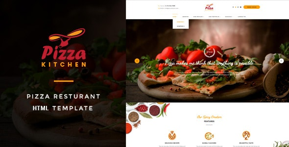 Pizza Kitchen - Fast Food HTML Template - Food Retail
