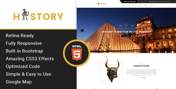 History- Museum & Exhibition HTML Template