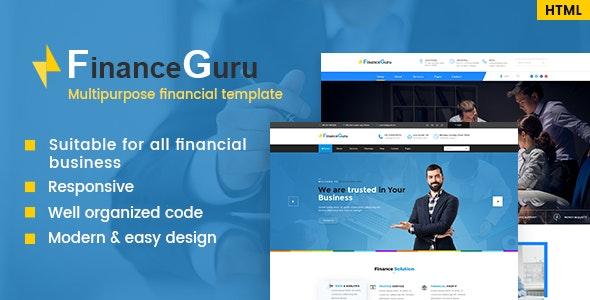 Finance Guru - Consulting & Business Template - Business Corporate
