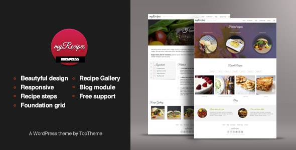 myRecipes - Recipes WordPress Theme - Food Retail