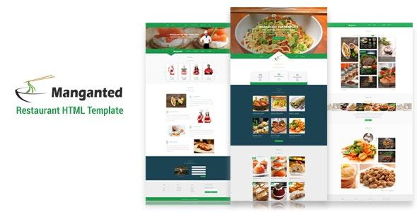 Manganted - Clean Restaurant HTML Template - Restaurants & Cafes Entertainment
