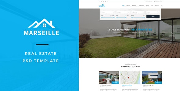 Marseille : Real Estate PSD Template - Business Corporate