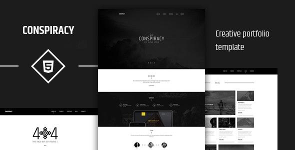 Conspiracy Creative HTML5 Portfolio Template - Portfolio Creative