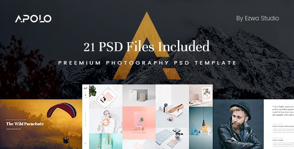 Apolo - Premium Photography & Portfolio PSD Template - Creative PSD Templates