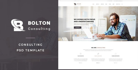 Bolton : Consulting PSD Template - Business Corporate