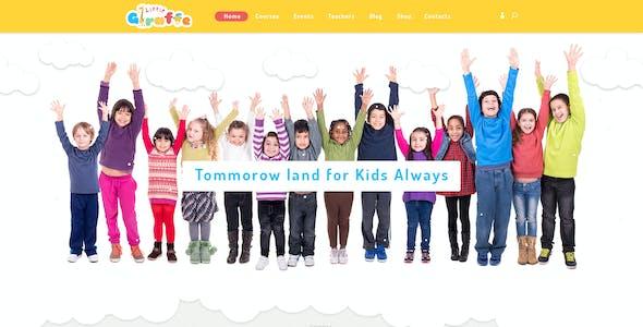 Giraffe - Kid Education Learning PSD Template