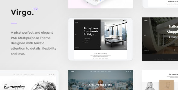 Virgo - PSD Multipurpose Template - Photoshop UI Templates