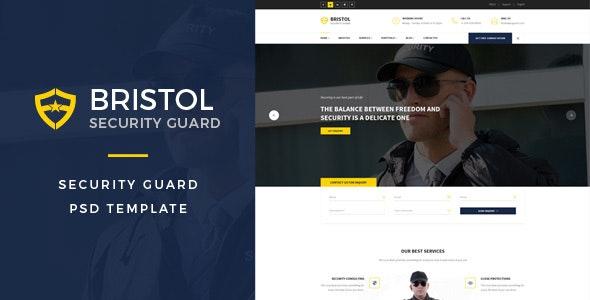 Bristol : Security Guard PSD Template - Business Corporate