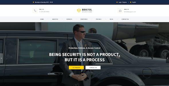Bristol : Security Guard PSD Template