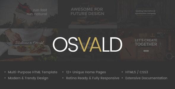 Osvald - HTML Responsive Multi-Purpose Template - Corporate Site Templates