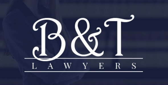 B&T Lawyers - Professionals Template - Corporate Site Templates