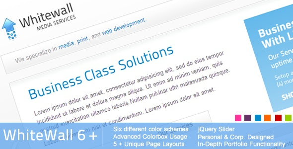 Whitewall HTML DESIGN 6-in-1 - Corporate Site Templates
