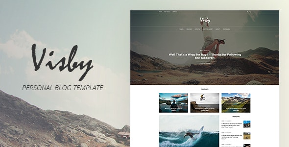 Visby - Personal Blog Template - Personal Photoshop