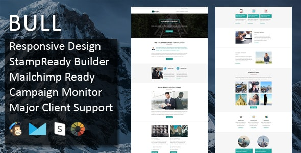 Bull - Multipurpose Responsive Email Template + Stampready Builder - Email Templates Marketing
