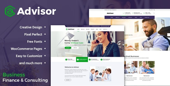 Advisor | Consulting, Business, Finance Template - Corporate Photoshop