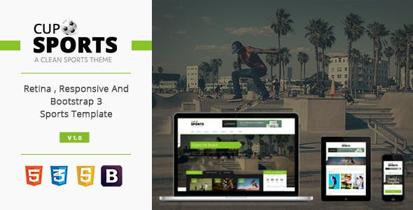 Sports Cup - Bootstrap 3 Sporting WordPress Theme