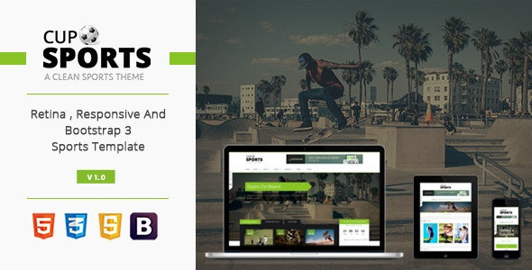 Sports Cup - Bootstrap 3 Sporting WordPress Theme - Events Entertainment