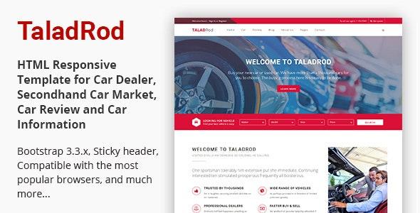 TaladRod - Car Dealer HTML Responsive Template - Business Corporate