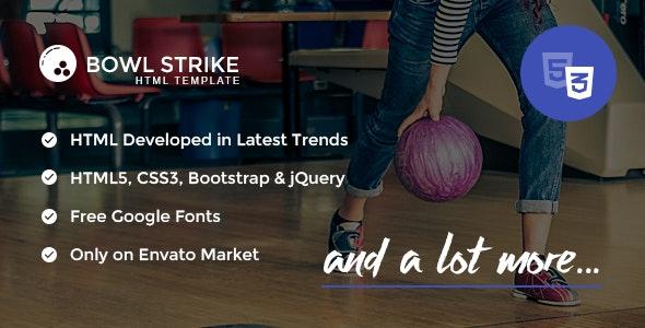 Bowl Strike - Responsive HTML template - Entertainment Site Templates