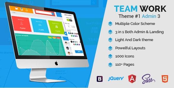 Teamwork - Responsive Bootstrap Admin Template - Admin Templates Site Templates
