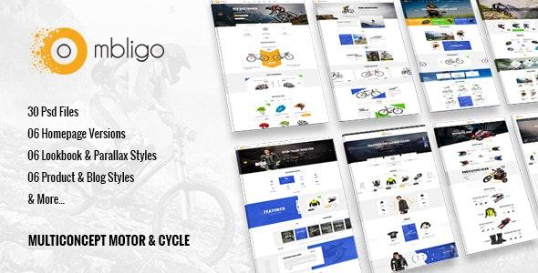 Ombligo Shop - Multi Concept Motor & Cycle PSD Templates - Retail Photoshop