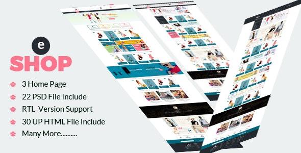 eShop-Multipurpose eCommerce HTML Template - Shopping Retail