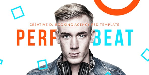 PerfectBeat - Creative DJ Booking Agency PSD Template