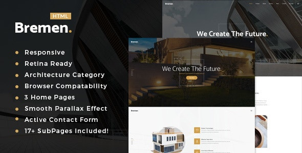 Bremen- Architecture, Interior and Renovation Template - Business Corporate