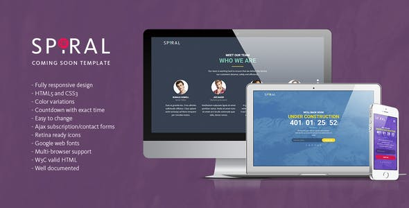 Spiral - Under Construction Page Template