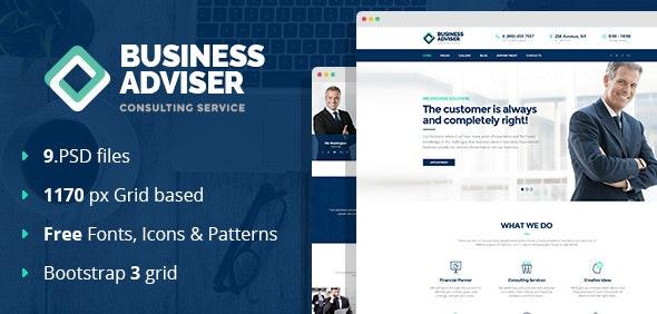 Business Adviser - Multipurpose PSD Template - Business Corporate