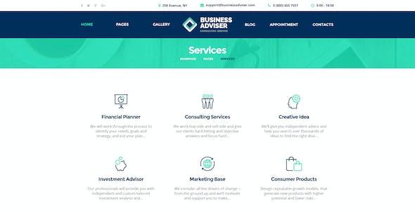 Business Adviser - Multipurpose PSD Template
