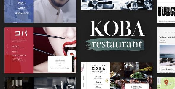 KOBA  - A Delicious Restaurant WordPress Theme - Restaurants & Cafes Entertainment