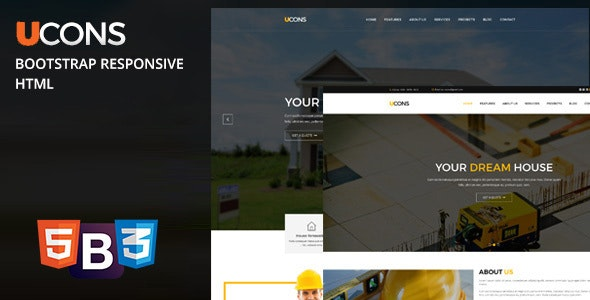 Ucons Construction, Building, Factory - Fully Bootstrap Responsive - Business Corporate